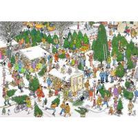 Jan van Haasteren Kerstbomenmarkt Puzzel 2000 stukjes