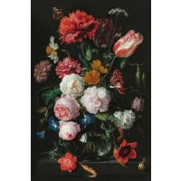 Stilleven met bloemen in een glazen vaas Diamond Painting