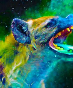 Kleurrijke Hyena Diamond Painting