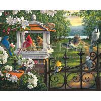 Vogeltjes bij het park Diamond Painting