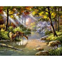 Hertjes in het bos Diamond Painting
