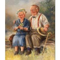 Verliefde opa en oma Diamond Painting