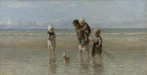 Kinderen aan zee Jozef Israels