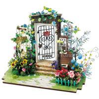 Ingang naar de tuin met verlichting miniatuur