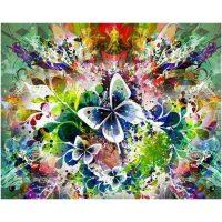 Aquarel met vlinders Diamond Painting