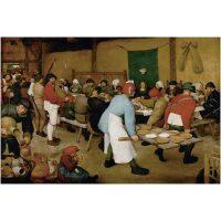 De boerenbruiloft Pieter Bruegel de Oude Diamond Painting