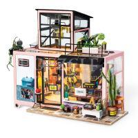 Kevins studio met verlichting miniatuur huisje
