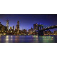 Diamond painting van de Lower Manhattan skyline en Brooklyn Bridge, New York