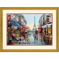Bloemenwinkel in Parijs Schilderen op nummer