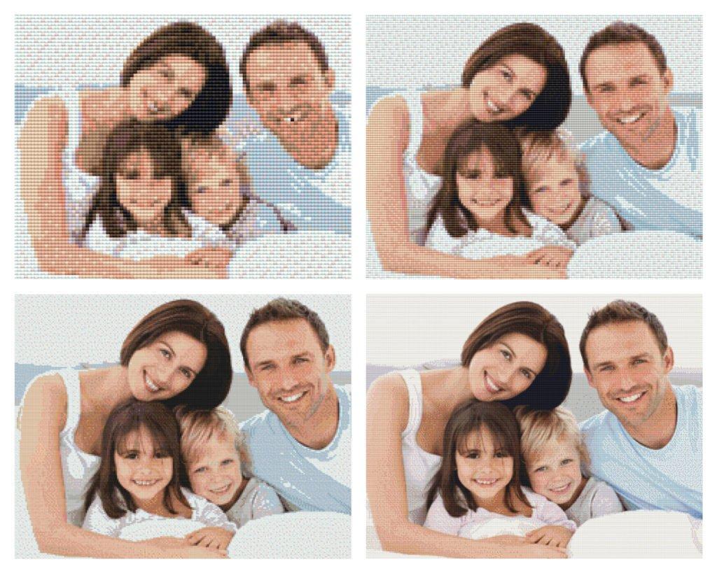Eigen foto Diamond Painting gezin