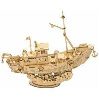 Vissersboot houten bouwpakket
