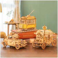 Robotime Rolife Carriage Koets houten bouwpakket (TG506)