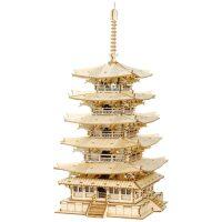 Robotime Rolife Japans Five-storied Pagoda houten bouwpakket (TGN02)